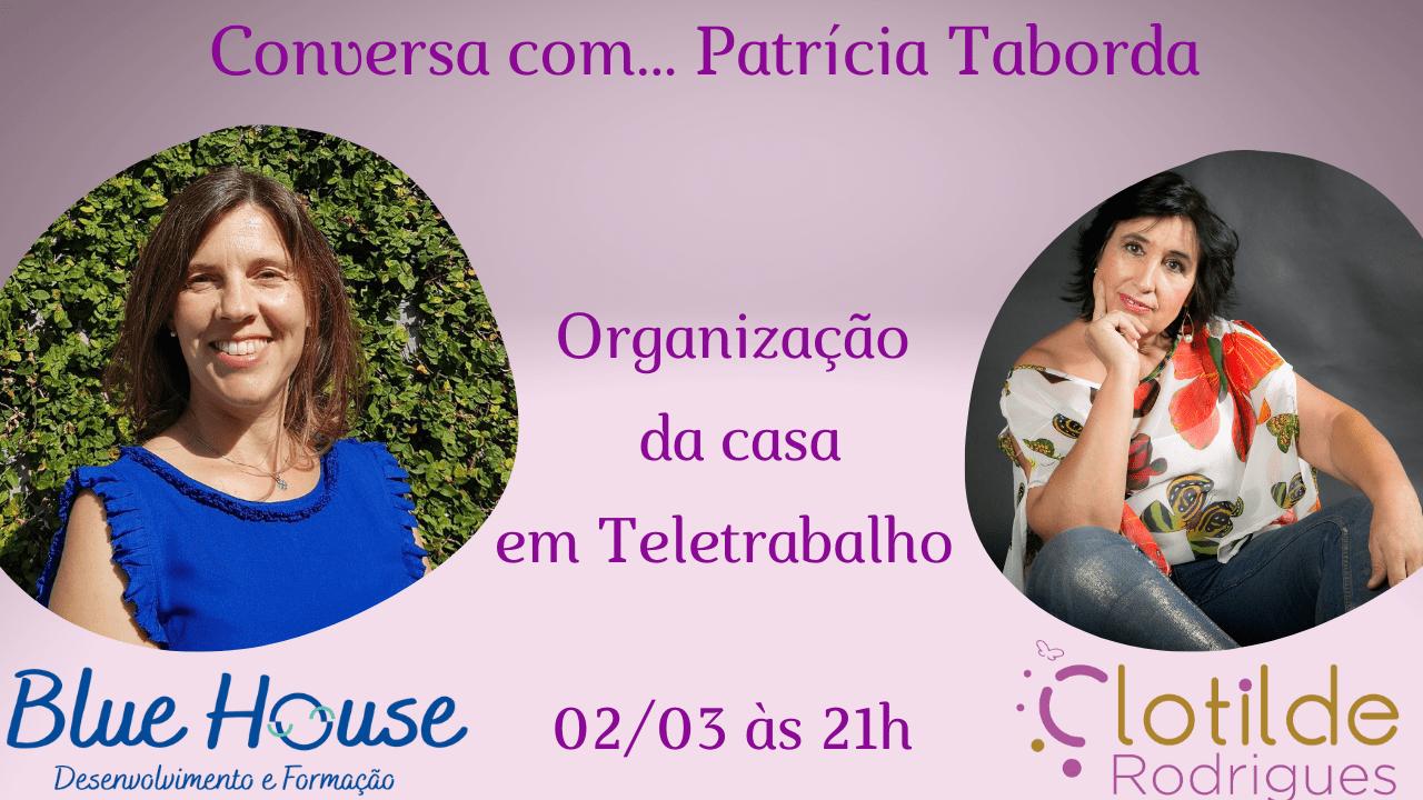 Conversa com Patrícia Taborda